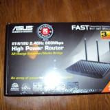 Router Wireless ASUS Gigabit RT-N18U N600, USB 2.0, USB 3.0, negru - sigilate, Port USB, Porturi LAN: 4, Porturi WAN: 1