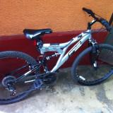 Mountain Bike Dunlop 26 inch, Dual Suspension, 22 inch, Numar viteze: 18