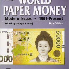 Catalog Standard World Paper Money 1961-prezent, 16th Edition (2010) 1112 pag,