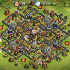 Vand cont Clash of Clans TH 11; LVL 147