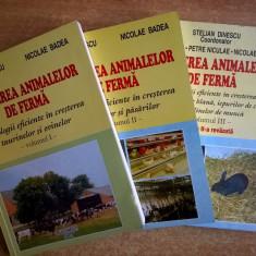 Stelian Dinescu – Cresterea animalelor de ferma, 3 volume - Carti Agronomie