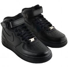 Ghete Nike UNISEX Air Force negru total - Ghete barbati Nike, Marime: 36, 37, 38, 39, 40, 41, 42, 43, 44, Culoare: Din imagine, Piele sintetica