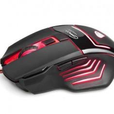 Mouse Natec Gaming Natec Genesis GX77 NMG-0447, USB, 5670 DPI, DPI switch, negru