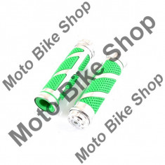 MBS Set mansoane ghidon moto-aluminiu+cauciuc verde, Cod Produs: MBS170119 - Mansoane Moto