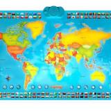 MomKi Harta interactiva a lumii, bilingv - limba romana ZN0001