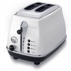 Prajitor de paine DeLonghi Icona CTO 2003, 900W, alb - Toaster