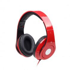 Casti Gembird Detroit headphones cu microfon, rosii - Casti PC