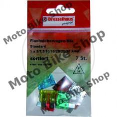 MBS Set sigurante 5-30A 7buc, Cod Produs: 1493634MA - Sigurante Moto