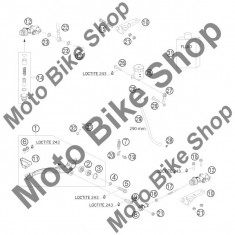 MBS Pompa frana spate 690 RALLY FACTORY REPLICA 2010 #12, Cod Produs: 76213060000KT - Pompa frana Moto