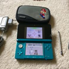 Nintendo 3DS+2 Jocuri+2 Husa Super Mario+incarcator original soft 4.1.0-4E