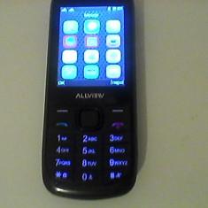 Telefon Alwiew - NOU cu Butoane - DUAL SIM (2 CARTELE, 2 NR DE TELEFON) - Telefon mobil Dual SIM Allview, Negru, Nu se aplica, Neblocat, Fara procesor