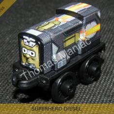 Fisher Price - Thomas and Friends Minis - trenulet jucarie SUPERHERO DIESEL - Trenulet de jucarie Fisher Price, Metal, Unisex