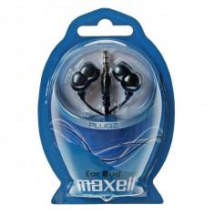 CASCA MAXELL INNER EAR BUD PLUGZ BLACK 303459.00.CN - Casti PC