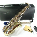 Saxafon curbat ALT auriu+argintiu Cherrystone ALTO Saxophone Mi b (E b) nou - Saxofon