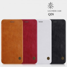 Husa iPhone 7 Plus Qin Leather Case by Nillkin Red - Husa Telefon Nillkin, Rosu, Piele Ecologica, Cu clapeta, Toc