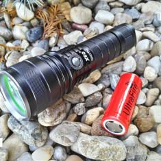 Lanterna Profesionala WARSUN X60 Originala cu Led CREE XM-L2 + Acumulator 26650