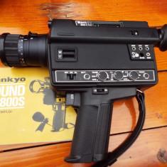 Camera video vintage SANKYO XL 800S + microfon + casca + geanta