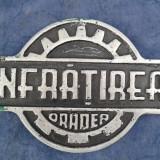 Placuta firma INFRATIREA ORADEA perioada comunista - Metal/Fonta