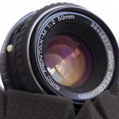 Obiectiv manual SMC Pentax M 50mm f2 montura Sony E - Obiectiv DSLR Sony, Standard, Manual focus