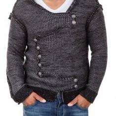 Pulover Tricotat Barbati Carisma Negru 7100 - Pulover barbati Carisma, Marime: M, L, XL, Culoare: Din imagine