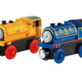 Locomotivele Bill si Ben, Thomas si prietenii sai, Fisher Price - Trenulet de jucarie Fisher Price, 4-6 ani, Lemn, Unisex