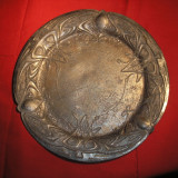 Art nouveau. tavita zinc argintat. - Metal/Fonta