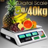 CANTAR PIATA MAGAZIN ELECTRONIC 40 kg Digital AFISAJ DUBLU, ACUMULATOR - Cantar de Bucatarie