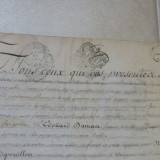Manuscris vechi pe piele din 1768