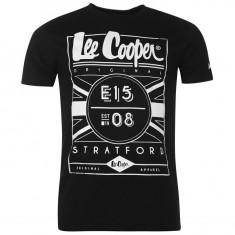 Tricou Lee Cooper - Tricou barbati Lee Cooper, Marime: L, Culoare: Alb