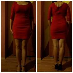 Rochie rosie cu dantela - Rochie de seara, Marime: 38, Culoare: Rosu