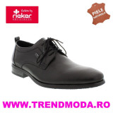 Pantofi barbati piele naturala RIEKER 10620-00 negru (Marime: 42)