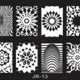 Matrita metalica pentru unghii Placuta medie Model JR 13 - Unghii modele