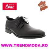 Pantofi barbati piele naturala RIEKER 10620-00 negru (Marime: 44)