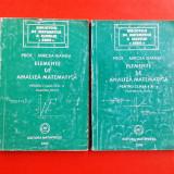 ELEMENTE DE ANALIZA MATEMATICA pentru clasa a XI a Mircea Ganga 2 vol 2000 - Carte Matematica