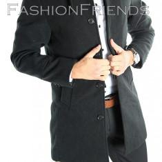 Palton tip ZARA negru - palton barbati - palton slim fit - cod 5410, Marime: M, L, Culoare: Din imagine