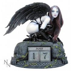 Calendar perpetuu de birou cu înger gotic - Fiica lui Lilith