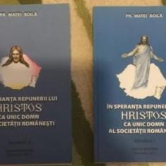 M. Boila In speranta repunerii lui Hristos ca Unic Domn al societatii romanesti
