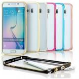 Husa bumper metal argintiu pentru telefon Samsung Galaxy S6