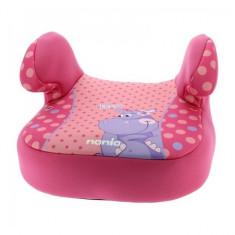 Inaltator auto Dream Plus Animals Hippo Nania - Scaun auto copii grupa 1-3 ani (9-36 kg) Nania, Roz