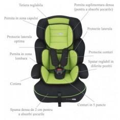 Scaun auto 9-36 kg FreeMove Green BabyGo - Scaun auto copii grupa 1-3 ani (9-36 kg)
