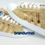 Adidasi Adidas Superstar DAMA AURIU.Model NOU 36 37 38 39 40 - Adidasi dama, Culoare: Din imagine, Textil