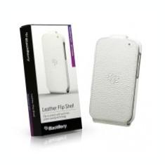 Husa piele BlackBerry ACC-50707-202 alba Flip Blister Originala - Husa Telefon