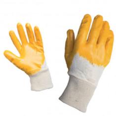 Manusi de protectie portocaliu nitril cu manson elastic Top Strong