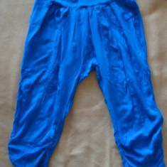 Pantaloni 7/ 8 EMT gen salvari Mar 38/ 40 - Pantaloni dama, Culoare: Albastru, Trei-sferturi, Bumbac