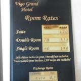 Tarifare receptie hotel
