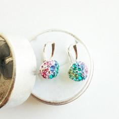 Cercei din argint cu cristale swarovski colorate - Cercei Swarovski