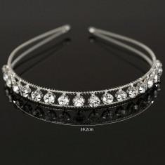 Coronita / tiara mireasa / ocazie cristale tip Swarovski