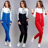 Trening Sport Dama Adidas Alb Negru - Trening dama Adidas, Marime: S, M, L, XL, XXL, Culoare: Din imagine, Bumbac