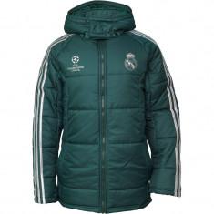 Geaca de iarna groasa si impermeabila Adidas Real Madrid ORIGINALA XL - Geaca barbati Adidas, Culoare: Verde, Poliester