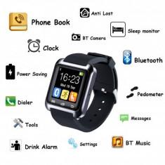 SMARTWATCH U-WATCH BT-U80 NEGRU MODEL ORIGINAL - Pebble Smartwatch